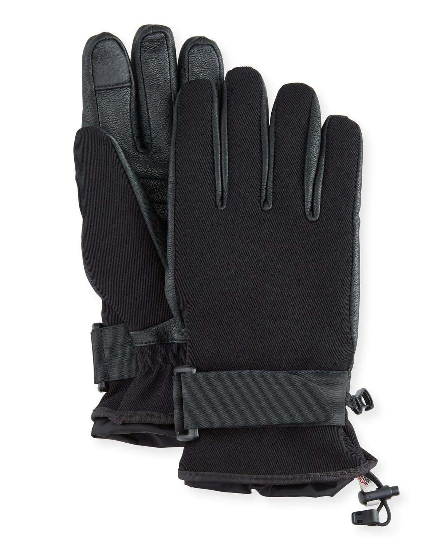Technical Jersey Logo Ski Gloves