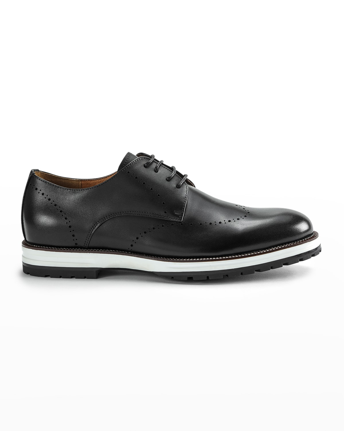 Men's Callum Hybrid Leather Wing-Tip Derby Shoes