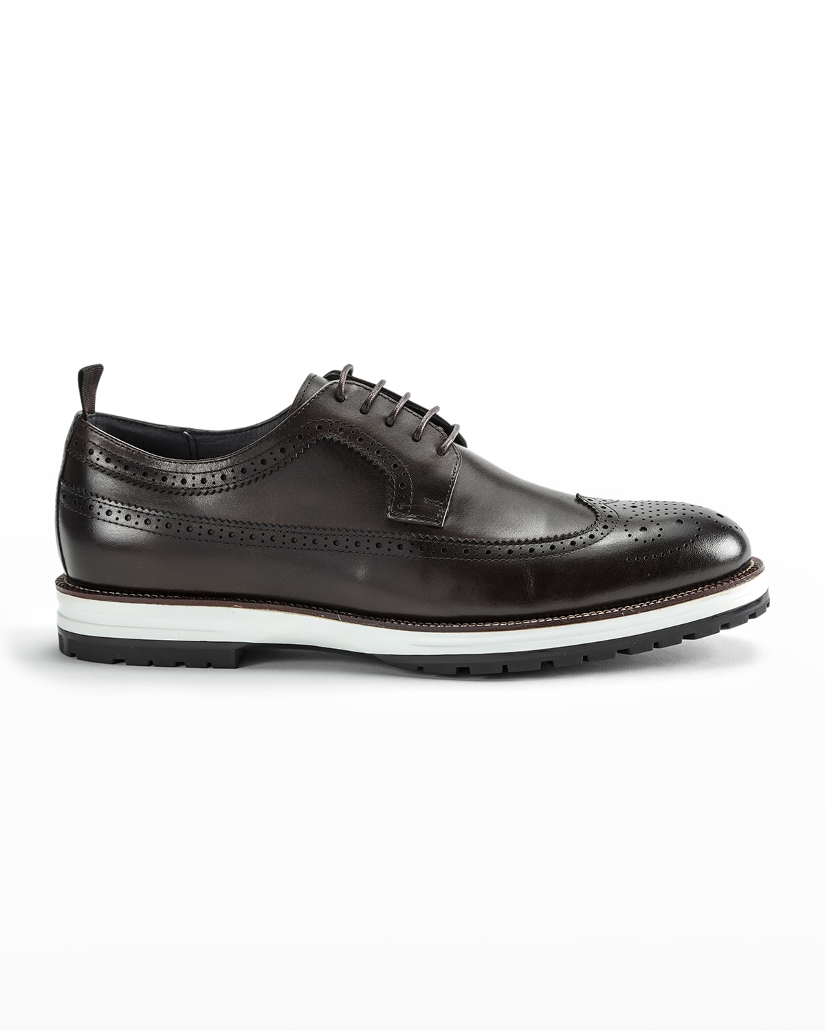 Men's Louis Hybrid Wing-Tip Leather Derby Shoes