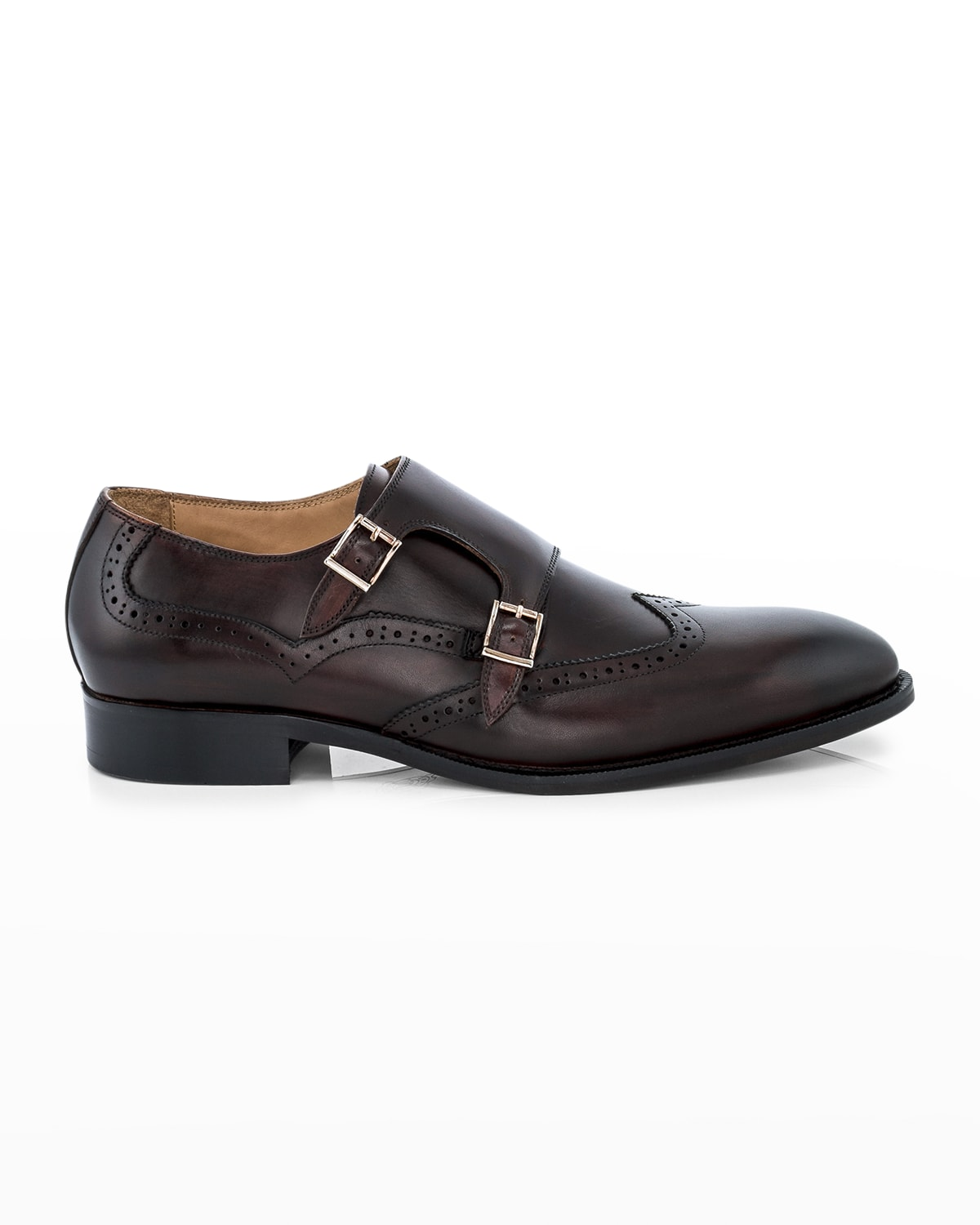 Men's Easton Double-Monk Strap Leather Loafers