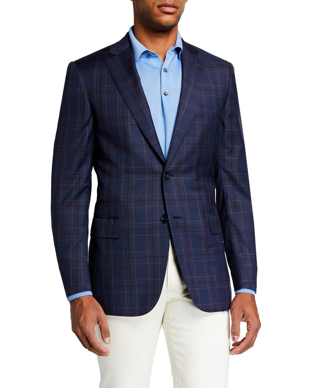 Men's Plaid Wool Sport Jacket
