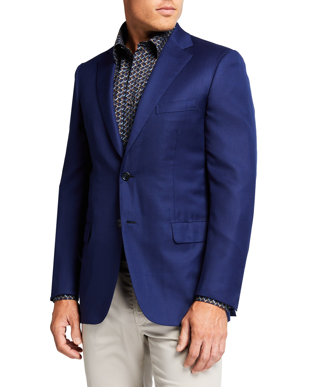 Men's Solid Ventiquattro Wool Blazer