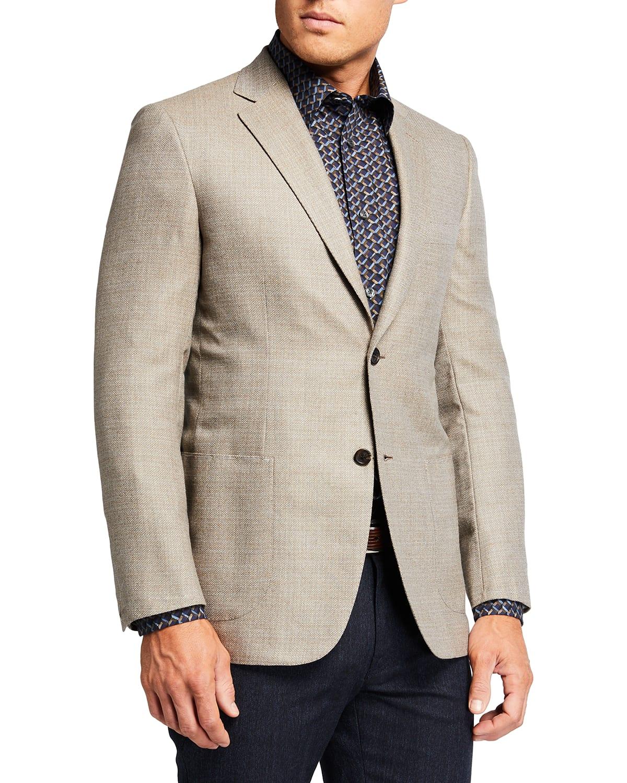 Men's Micro-Neat Wool Sport Jacket