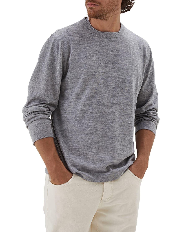 Men's Wool-Cashmere Crewneck Sweater