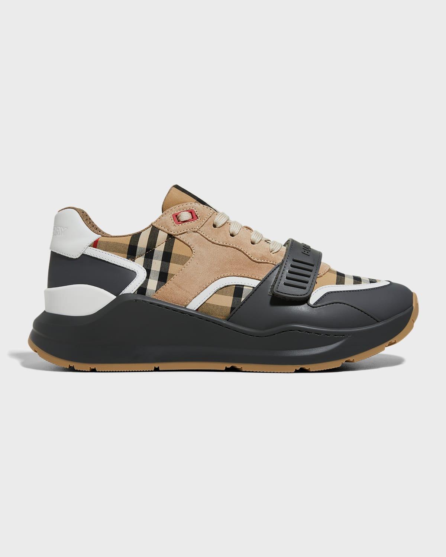 Ramsey M Vintage Check Low-Top Sneakers