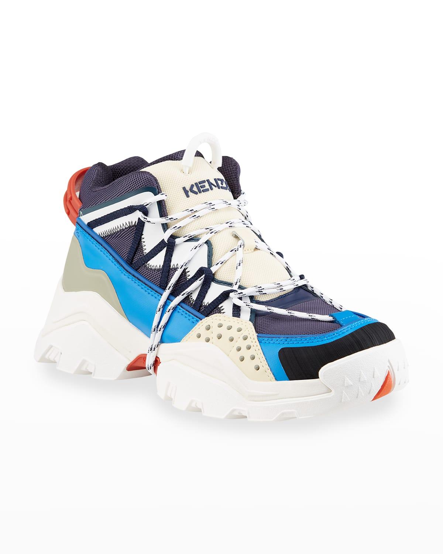 Men's Inka Mesh Wraparound-Lace Chunky Sneakers