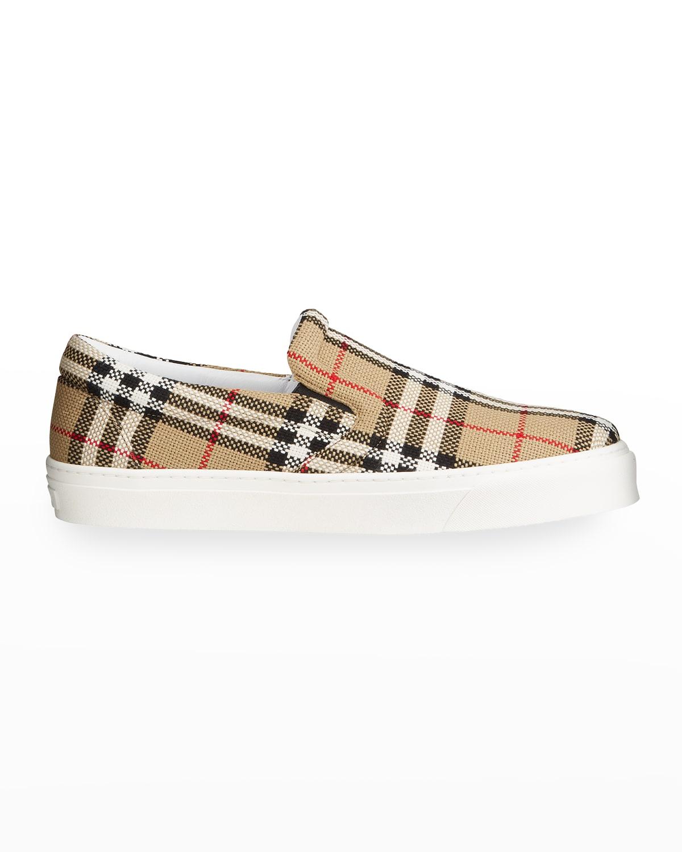 Men's Thompson Vintage Check Slip-On Sneakers