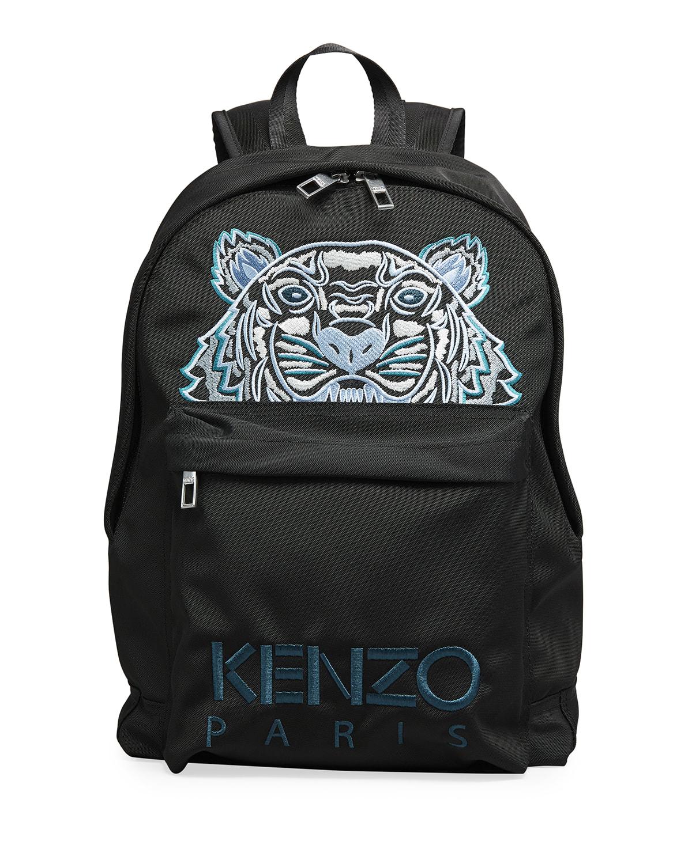 Men's Tonal Embroidered-Logo Backpack