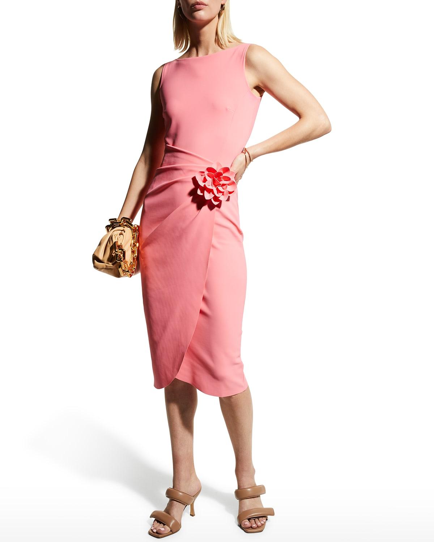 Glenaly Sheath Dress w/ Flower Detail