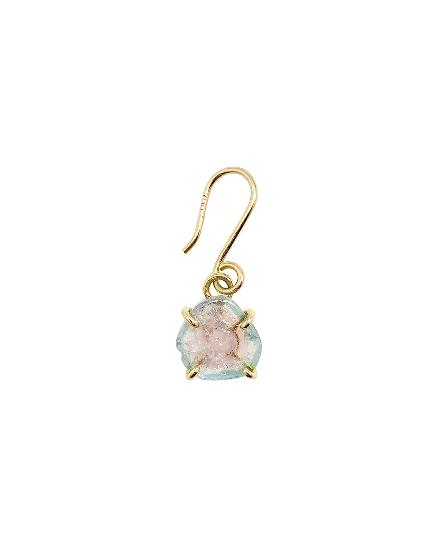 18k Solitaire Stone-Drop Earring