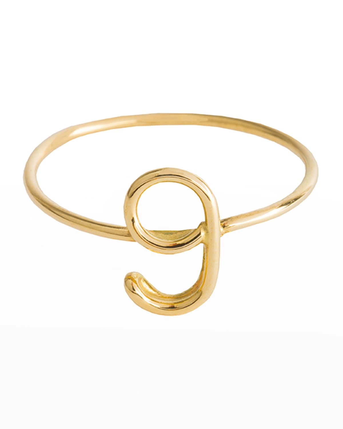 18k Yellow Gold Wire Numerology Ring