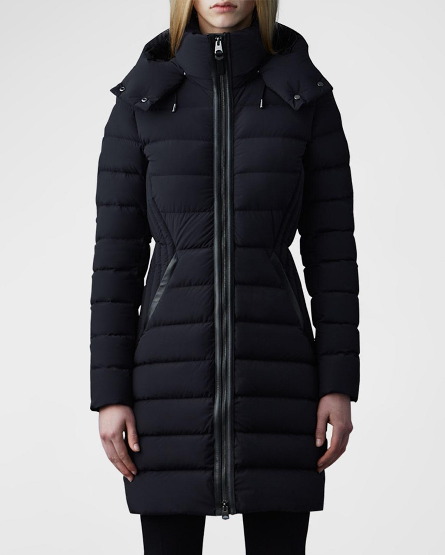 Farren Detachable-Hood Lightweight Down Coat