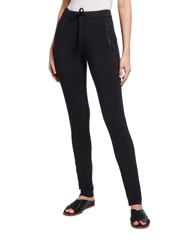 Drawstring Lounge Pants w/ Zipper Pockets