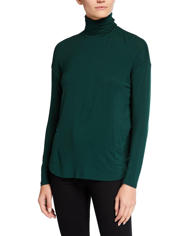 Extra Fine Oversized Long-Sleeve Turtleneck Top