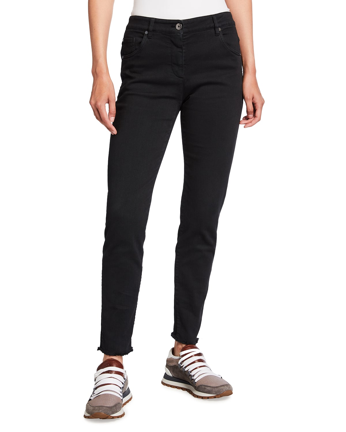 Garment Dyed Narrow Jeans