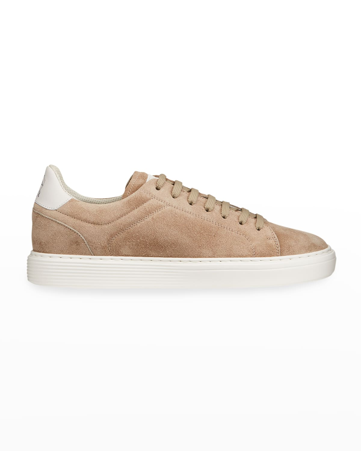 Men's Airsole Two-Tone Suede Sneakers