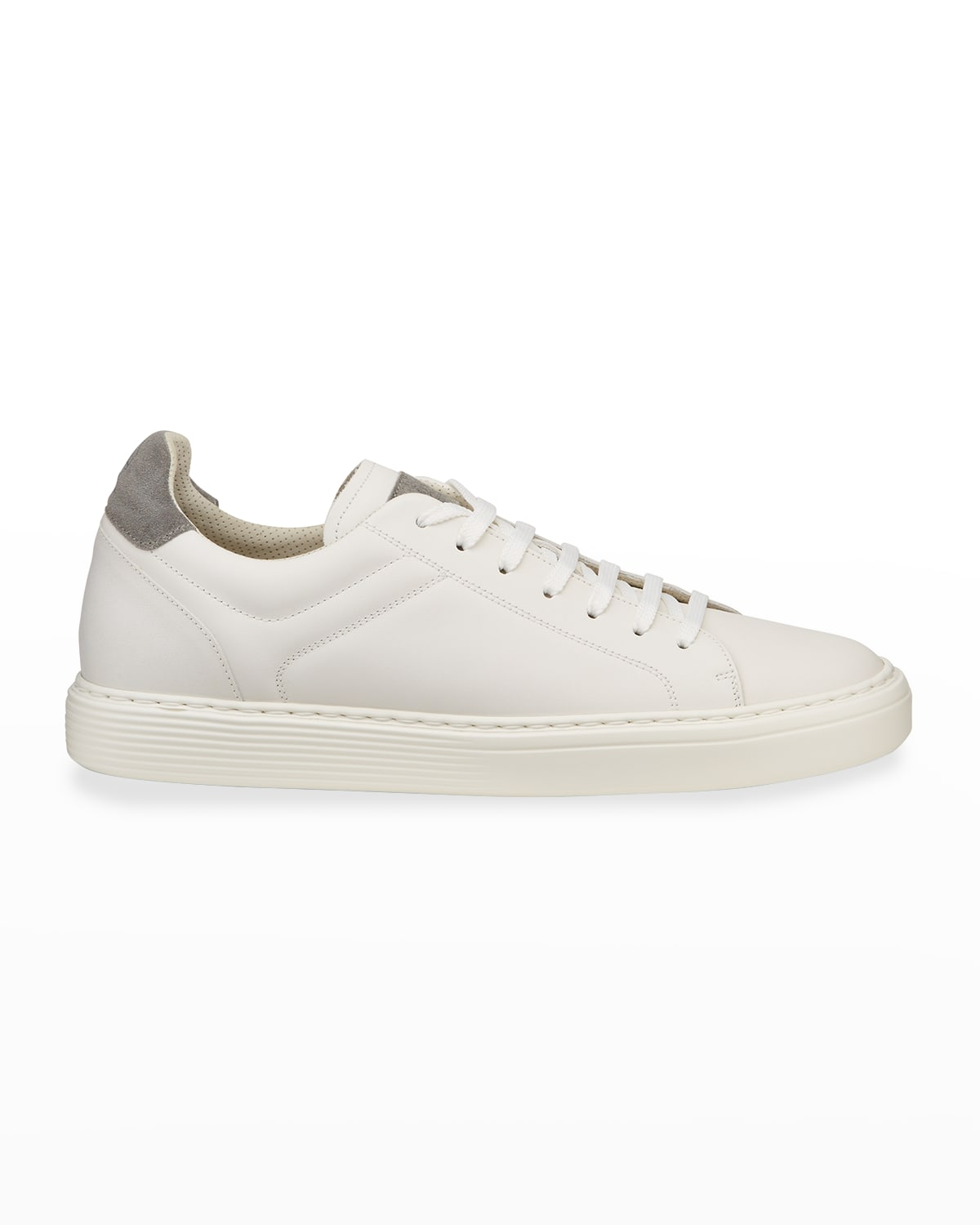 Men's Leather Cup-Sole Low-Top Sneakers