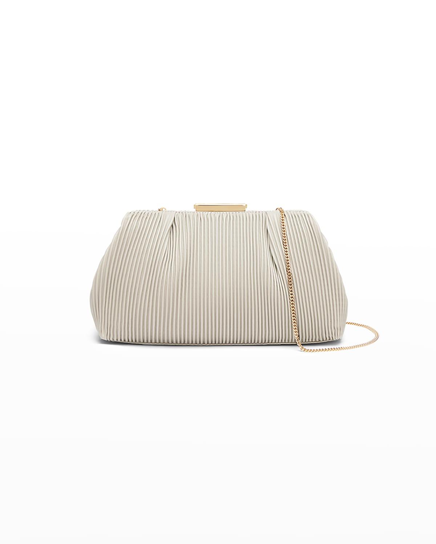 Florence Metallic Pleated Clutch Bag