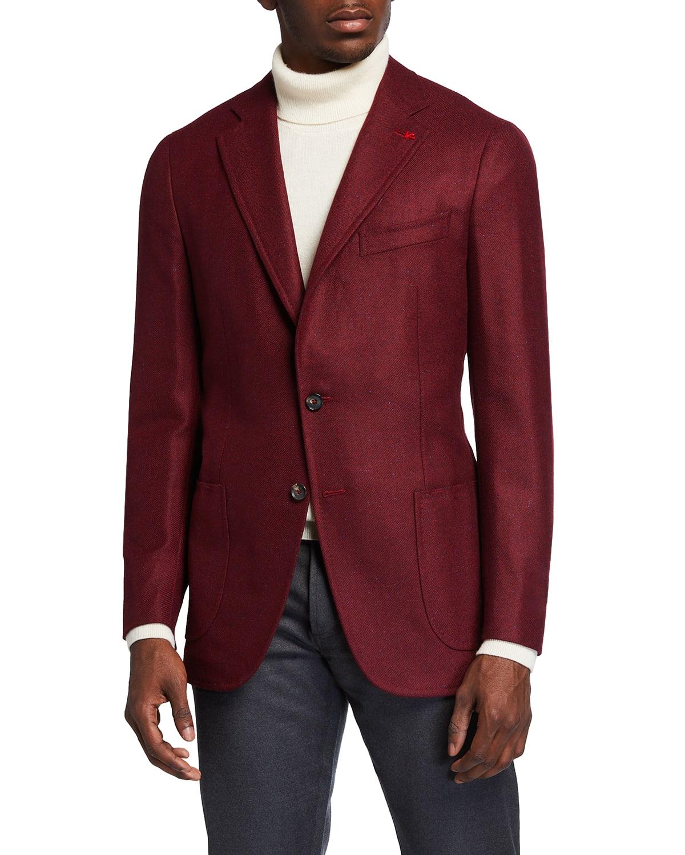 Men's Cashmere-Silk Donegal Blazer