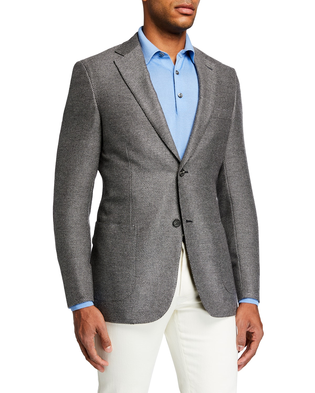 Men's Birdseye Cashmere-Silk Blazer