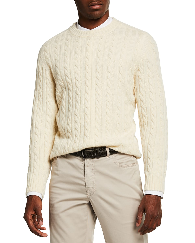 Men's Cable-Knit Cashmere Sweater