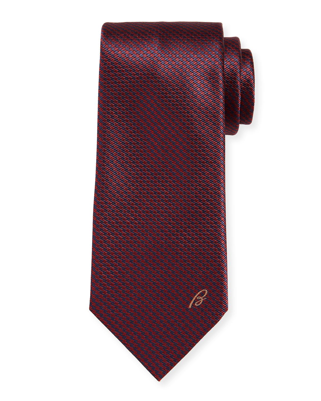 Men's Etched Lines Silk Tie