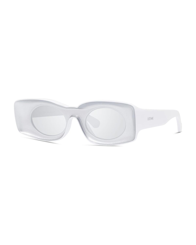 Two-Tone Acetate Inset Oval Sunglasses