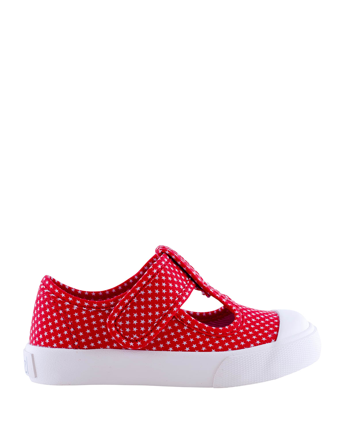 Girl's Star Dot T-Strap Canvas Sneakers