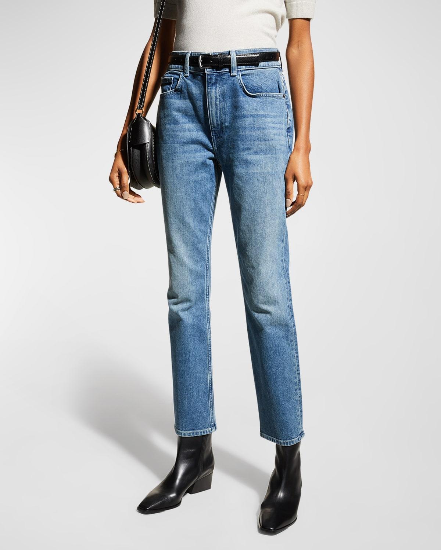 Reeve High-Rise 13oz Italian Heritage Denim Straight-Leg Jeans