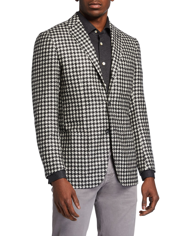 Men's Cashmere Houndstooth Sport Jacket