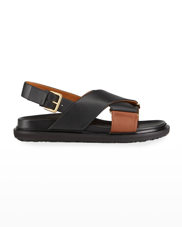 Crisscross Slingback Flat Sandals