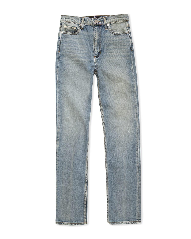 Timberly High-Waist Straight-Leg Jeans