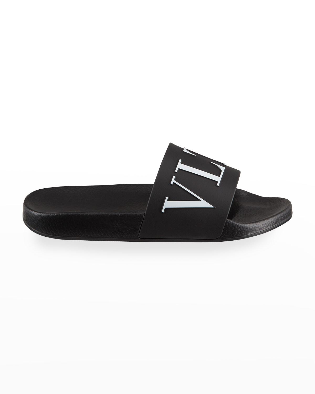 Men's Classic VLTN Logo Pool Slide Sandals