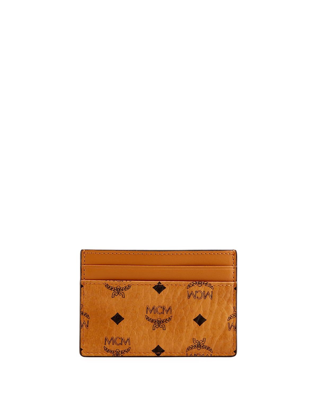 Men's Signature Visetos Mini Card Case