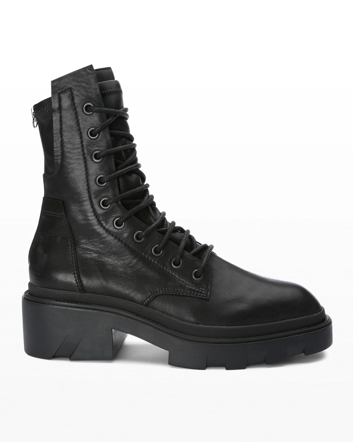 Madness Mid Leather Combat Booties