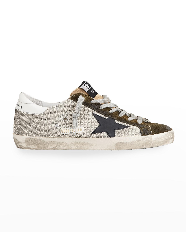 Men's Superstar Suede %26 Canvas Sneakers