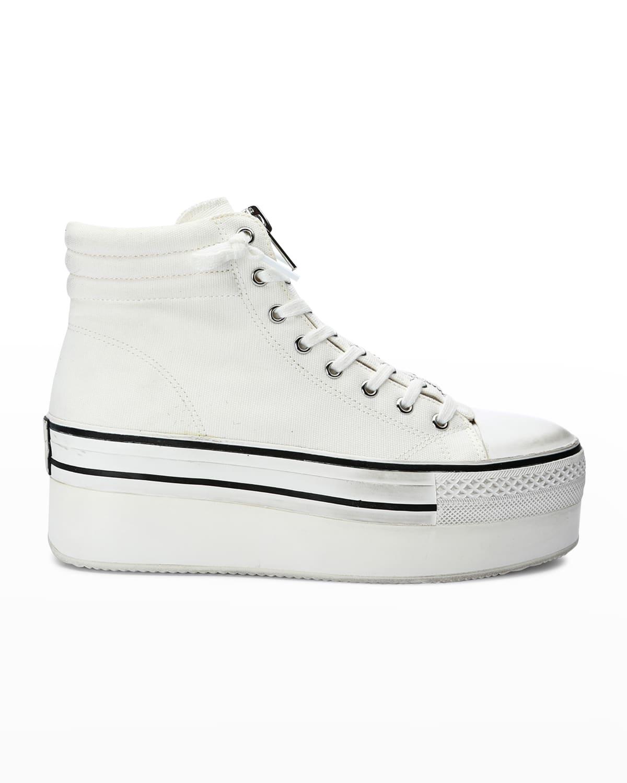 Jagger Canvas Platform Zip Sneakers