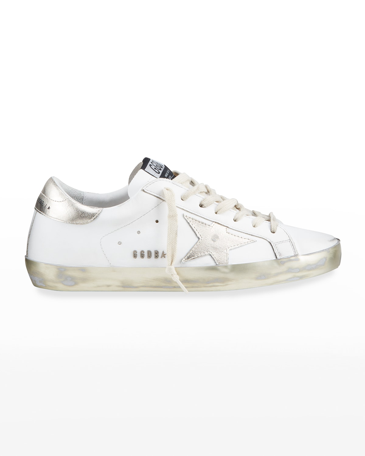 Men's Superstar Laminated Leather Low-Top Sneakers
