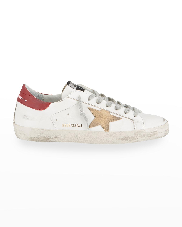 Men's Superstar Suede %26 Leather Low-Top Sneakers