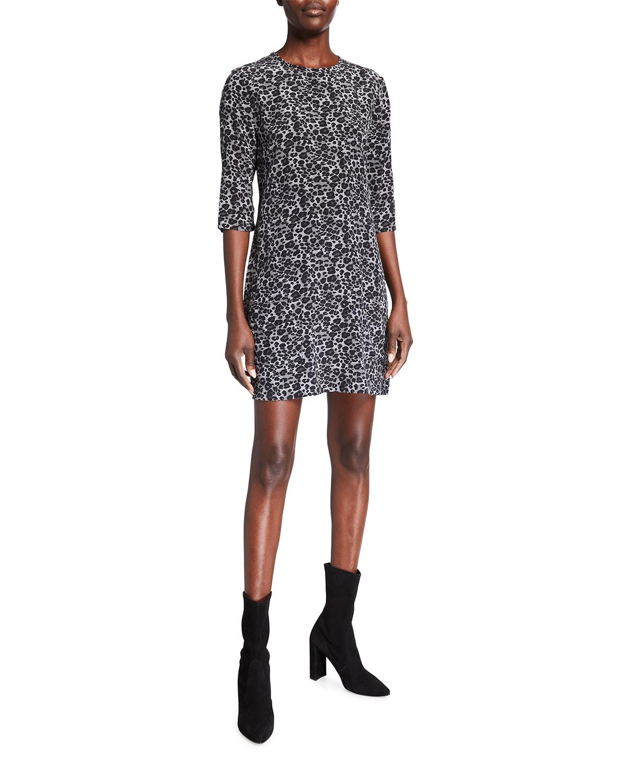 Aubrey Leopard Print Silk Mini Dress