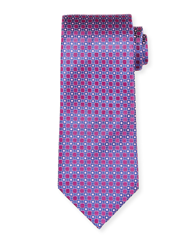 Men's Dotted Geometrics Silk Tie