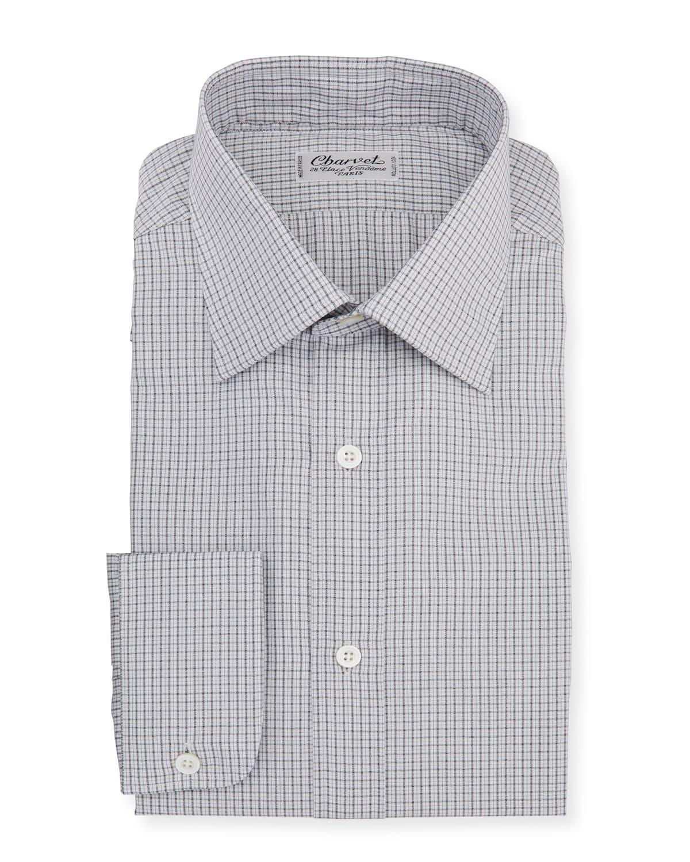 Men's Plaid Melange Dress Shirt