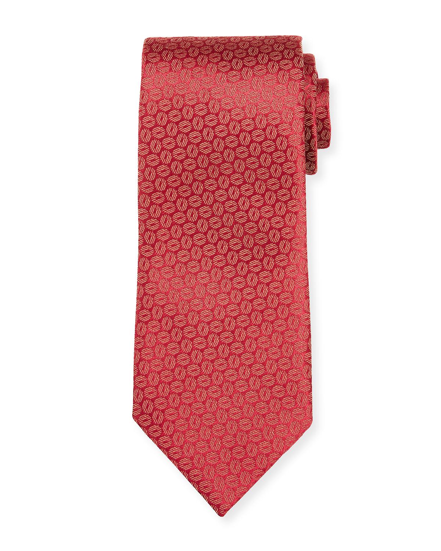 Men's Geometric Silk Tie