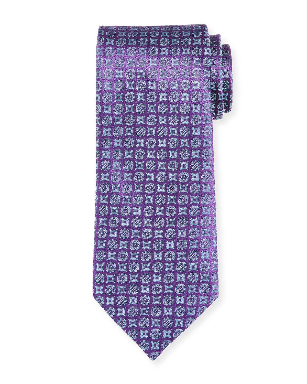 Men's Mini Medallions Silk Tie