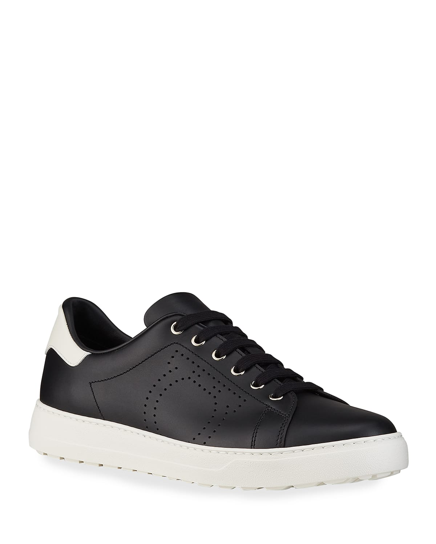 Men's Pierre Leather Low-Top Sneakers