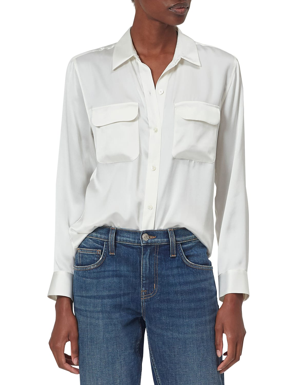 Signature Solid Button-Down Shirt