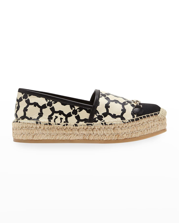 Kim Printed Gancini Espadrille Loafers
