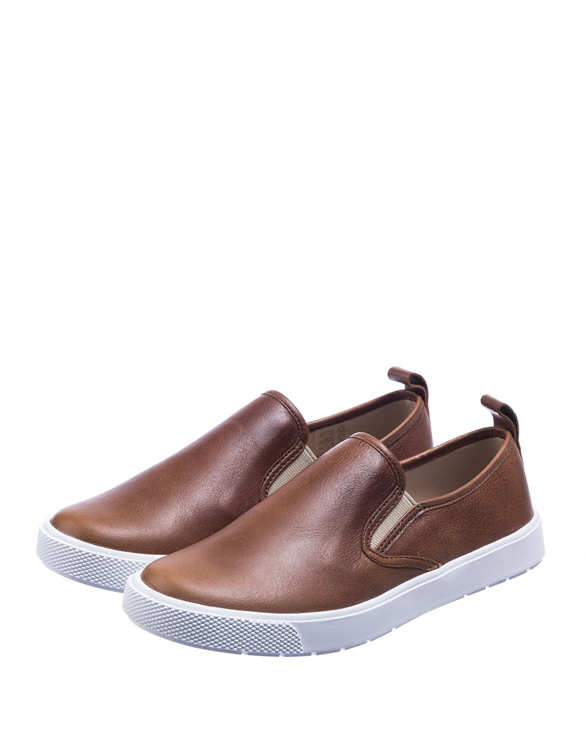 Boy's Slip-On Leather Sneakers