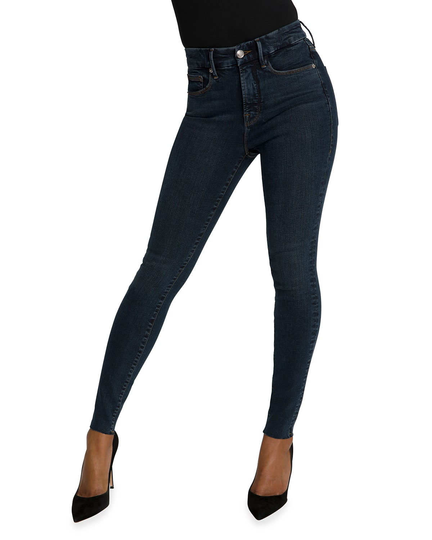 Good Legs Raw-Edge Skinny Jeans