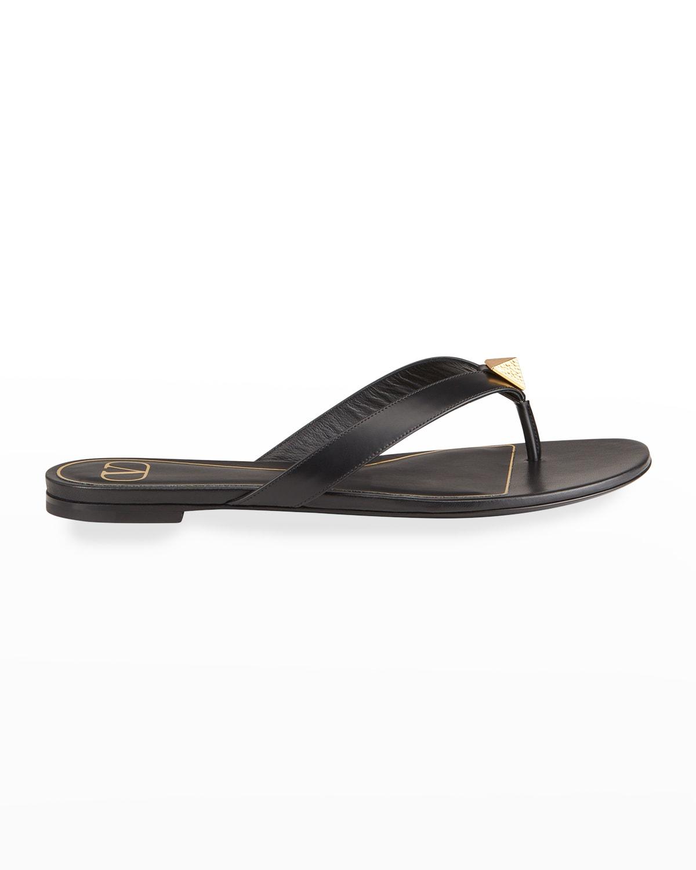 Roman Stud Leather Thong Sandals